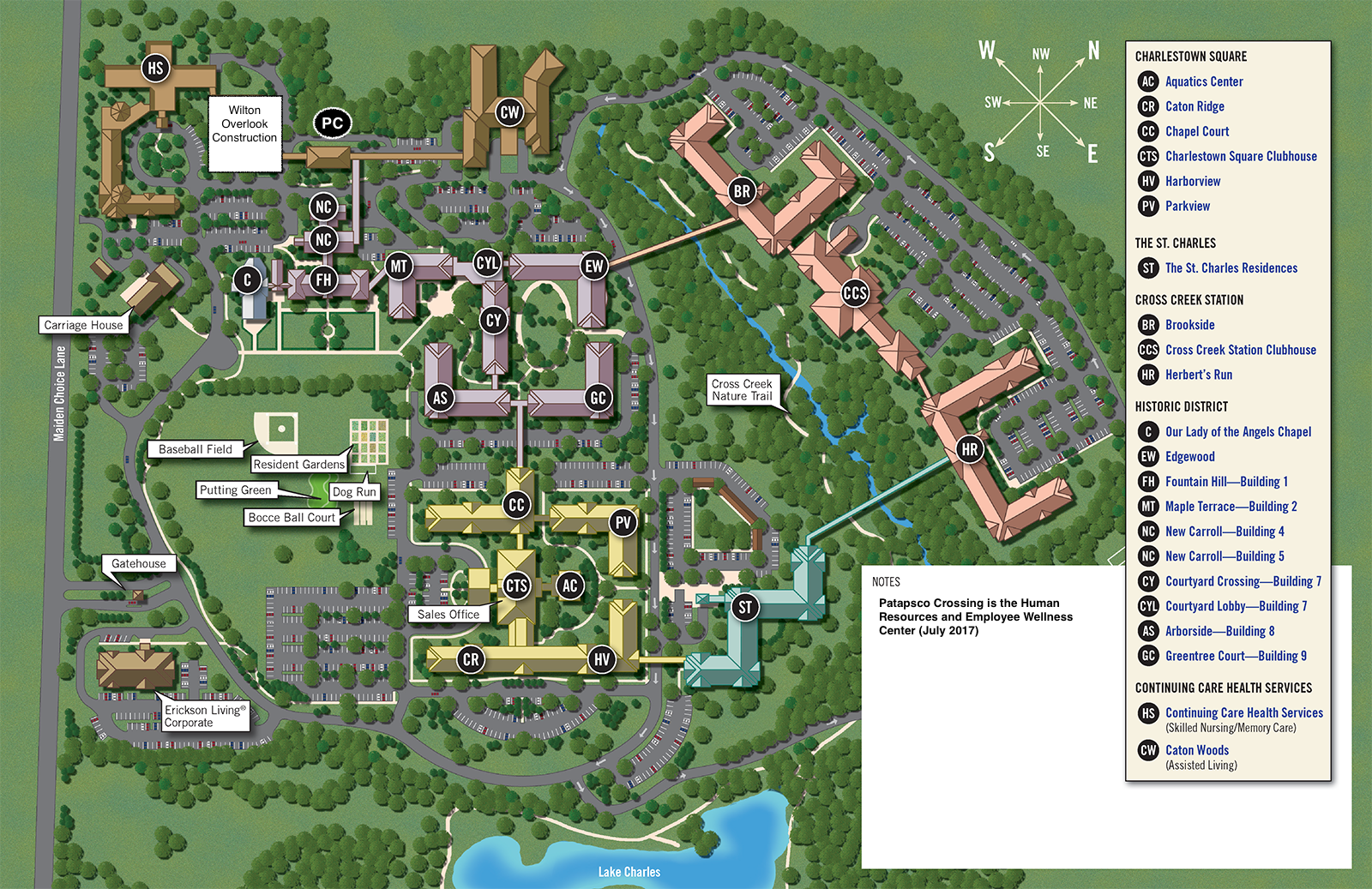 Campus Map | Charlestown Retirement Community Residents