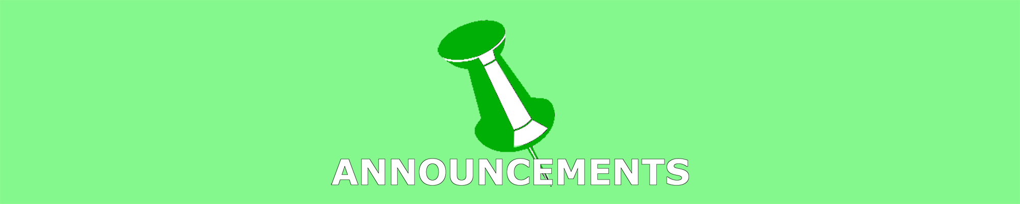 Announcements header