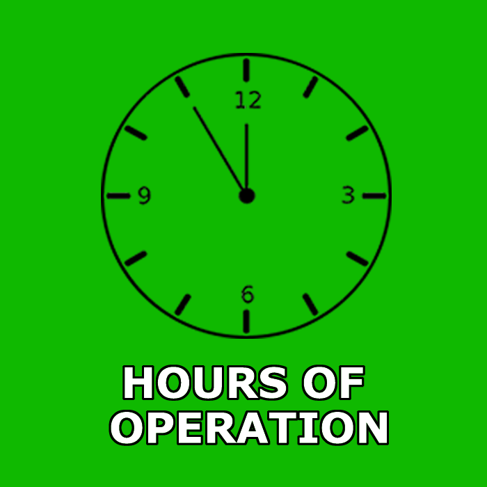 Hours of Operations