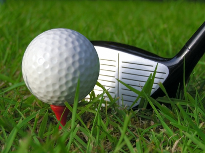 image of golf ball on tee