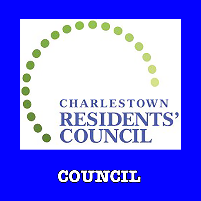 Charlestown Residents' Council Information including images of Council Members