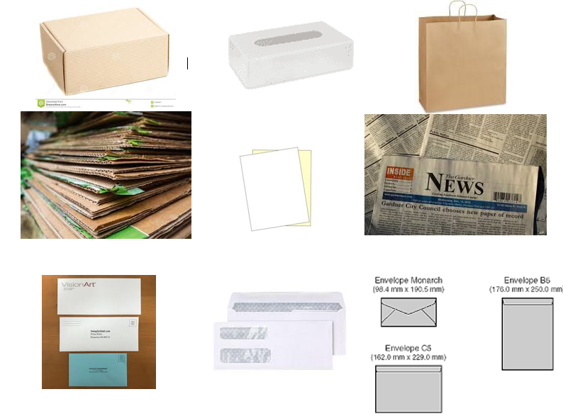 recyclable paper items